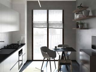 Un soggiorno in stile scandinavo Cucina in stile scandinavo di interiorbe SRL Scandinavo