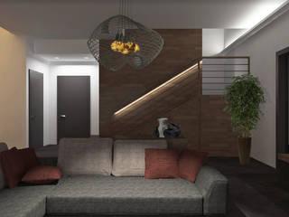 Sogno una casa industriale zen! Soggiorno in stile industriale di interiorbe SRL Industrial