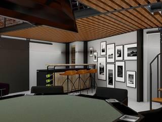 Loft Condesa: Comedores de estilo  por Integra Arquitectos