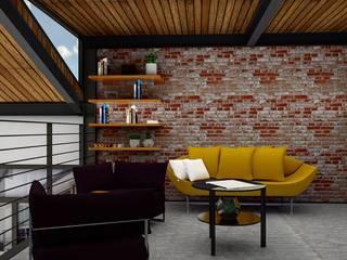 Loft Condesa: Salas de estilo  por Integra Arquitectos