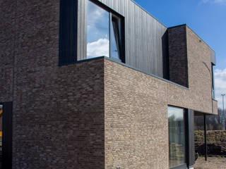 Moderne kubuswoning in plan Vaart Alkmaar Moderne huizen van Nico Dekker Ontwerp & Bouwkunde Modern