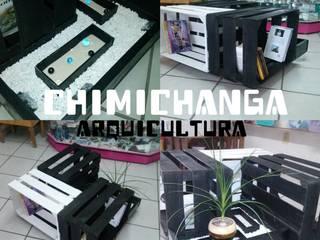 Mesa de Centro B&W:  de estilo  por Chimichanga Sustentabilidad Creativa