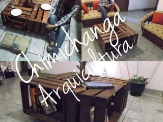 Mesa de Centro Huacales:  de estilo  por Chimichanga Sustentabilidad Creativa