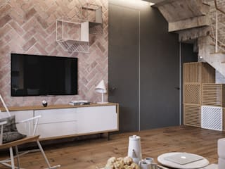 Salas de estilo  por Дизайн интерьера Киев|tishchenko.com.ua,