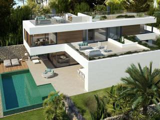 Twelve Project. Single family house located at Calviá, Mallorca Casas de estilo moderno de JAIME SALVÁ, Arquitectura & Interiorismo Moderno
