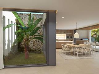 Twelve Project. Single family house located at Calviá, Mallorca Comedores de estilo moderno de JAIME SALVÁ, Arquitectura & Interiorismo Moderno