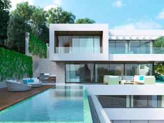 Single family house located at Son Vida, Palma, Mallorca Casas de estilo moderno de JAIME SALVÁ, Arquitectura & Interiorismo Moderno