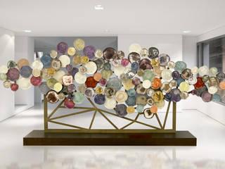 Installazione in porcellana di Massimo Ballardin Moderno