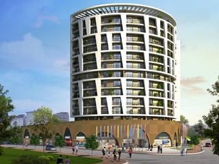 Denge Towers HFA Alüminyum Cephe Sistemleri Alışveriş Merkezleri Beyaz
