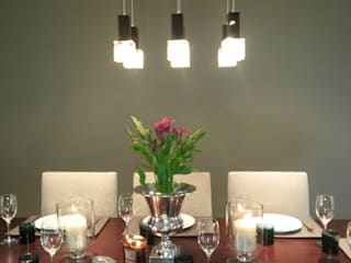 Sandton Style Penthouse Living CKW Lifestyle Associates PTY Ltd Dining roomLighting