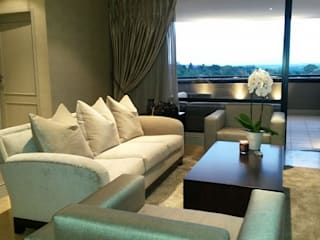 Sandton Style Penthouse Living CKW Lifestyle Associates PTY Ltd Living roomLighting