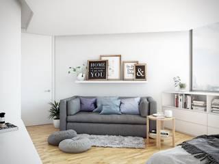 Kamar Tidur Gaya Skandinavia Oleh TACTIL Arquitectura Skandinavia