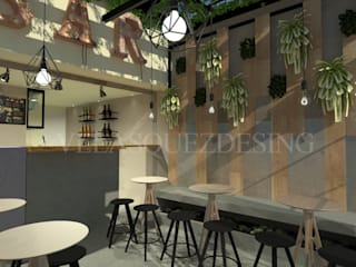 cafe-bar calle 64: Bares y discotecas de estilo  por Johana Velásquez