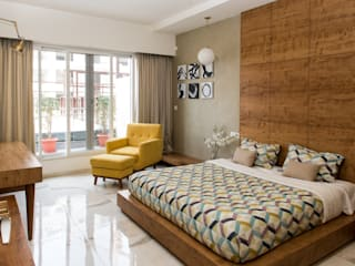 Bedroom of completed project 1:  Bedroom by Atom Interiors