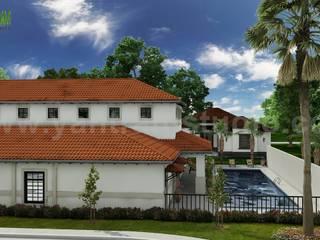 Creative 3D Exterior House Rendering ideas by Yantram architectural rendering service Bern Yantram Architectural Design Studio Modern