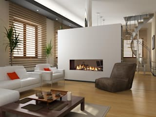 Dim-ora Caminetti su misura a gas, elettrici e a bioetanolo Living roomFireplaces & accessories