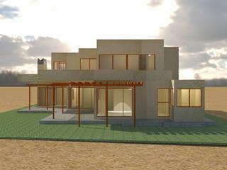 Rendering Casa AL:  de estilo  por Clara Correas Arquitecta