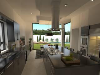 ห้องครัว โดย OC ARQUITECTOS, โมเดิร์น