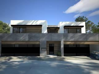 ONIX FACHADA PRINCIPAL: Casas de estilo moderno por OC ARQUITECTOS