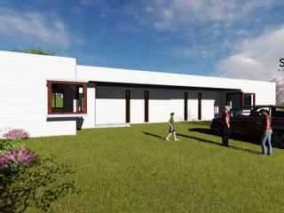 CASA JMB: Casas de campo de estilo  por Sense Arquitectos