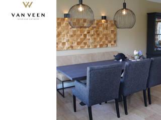 INTERIEURONTWERP WOONKAMER: modern  door VAN VEEN INTERIOR DESIGN, Modern