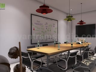 Conference Room Interior Modeling Design Ideas:  Conservatory by Yantram Architectural Design Studio