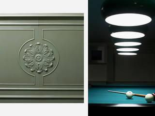 Sala biliardo privata Sala multimediale in stile classico di Turati Boiseries Classico