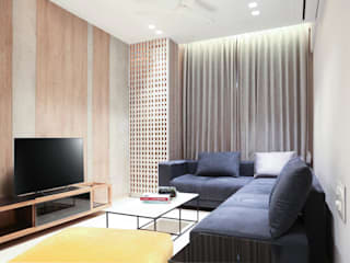 Apartment Interior:  Living room by Cube Architects and Interiors