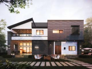 3세대 주택의 기능을 가진 고급 모던주택 by 더존하우징