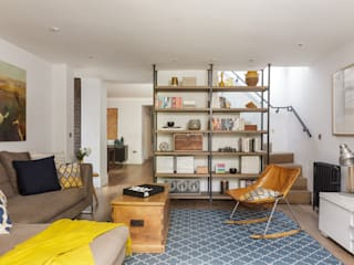 Cosy & Contemporary - Living Room:   by Casey & Fox Ltd