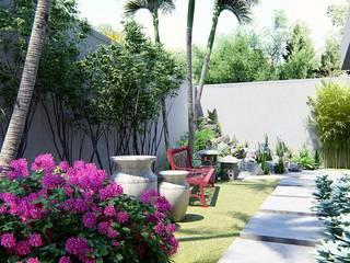 Jardim: Jardins modernos por Trivisio Consultoria e Projetos em 3D