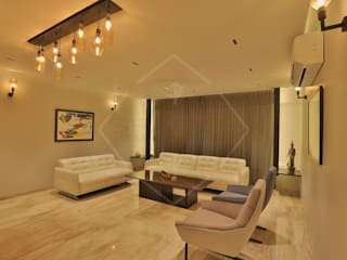 LIVING AREA:   by SPACCE INTERIORS