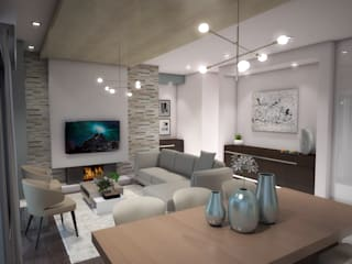 Living room by Kori Interiors, Minimalist
