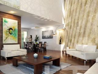 Casa B & D / Residencial Las Plazas / LTd Salones modernos de LTd Arquitectura & Interiorismo Moderno