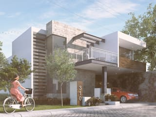 Casa Zaragoza: Casas de estilo moderno por Reto Arquitectos