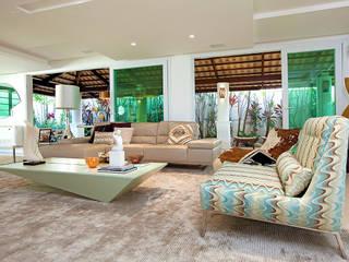 Apto. Cond. Parque das Ilhas - Projeto em Fortaleza: Salas de estar  por RI Arquitetura
