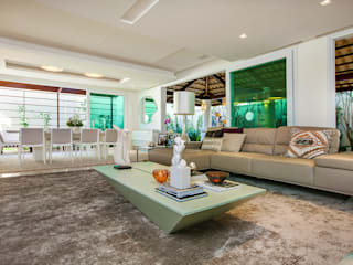 Apto. Cond. Parque das Ilhas - Projeto em Fortaleza Salas de estar modernas por RI Arquitetura Moderno