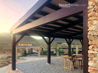 NavarrOlivier Balcon, Veranda & Terrasse ruraux Bois Effet bois