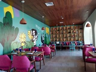 restaunrante mexicano Cancún Quintana Roo: Comedores de estilo  por MUEBLES DE DISEÑÓ FIRV
