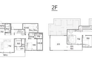 넓은 포치 공간이 인상적인 모던하우스 (경기도 화성시) by 더존하우징