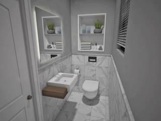 Guest Toilet Minimalist bathroom by Kori Interiors Minimalist