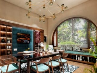 Sala da pranzo moderna di Chaukor Studio Moderno