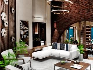Salas / recibidores de estilo  por Chaukor Studio, Moderno