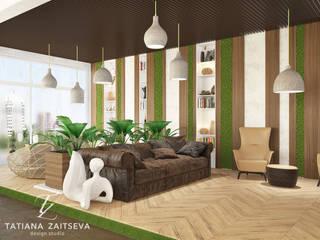 Гостиные в эклектичном стиле от Design studio TZinterior group Эклектичный