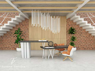 Гостиная в стиле лофт от Design studio TZinterior group Лофт