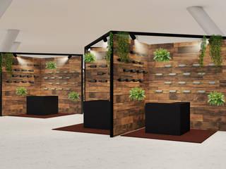 Stand design for the wine fair: Sedi per eventi in stile  di Studio Maiden