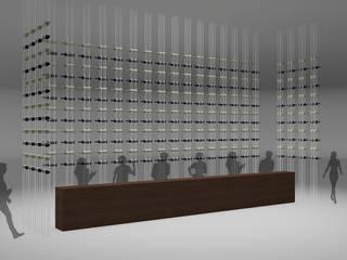 Installation design for the wine fair: Scuole in stile  di Studio Maiden