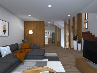 Гостиная в азиатском стиле от arcq.o | rui costa & simão ferreira arquitectos, Lda. Азиатский
