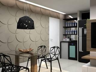 Projeto Apartamento Moderno Vila Andrade.: Salas de jantar  por Reformas Inteligentes!