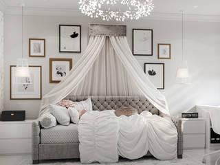 Дизайн детской для девочки в светлых оттенках: Спальни для девочек в . Автор – IL design
